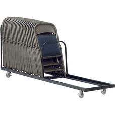 42 Capacity Single Tier Upright Chair Cart - 21''W x 100''D x 38.25''H