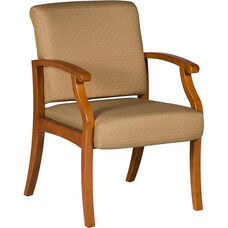Florin 300 lb. Capacity Guest Chair - Leather Upholstery