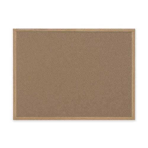 Bi-Silque Cork Board with MDF Frame - 3' x 4' - Brown