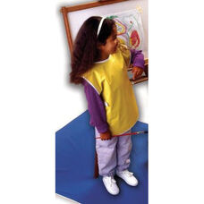 Super Soft Vinyl Full Protection Sleeveless Smock - Blue and Yellow