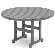 POLYWOOD® Round 48'' Dining Table - Slate Grey