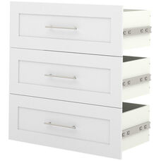 Pur 3-Drawer Set for 36'' Storage Unit - White