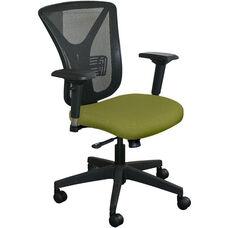 Fermata Executive Mesh Chair with Black Base - Fennel Fabric