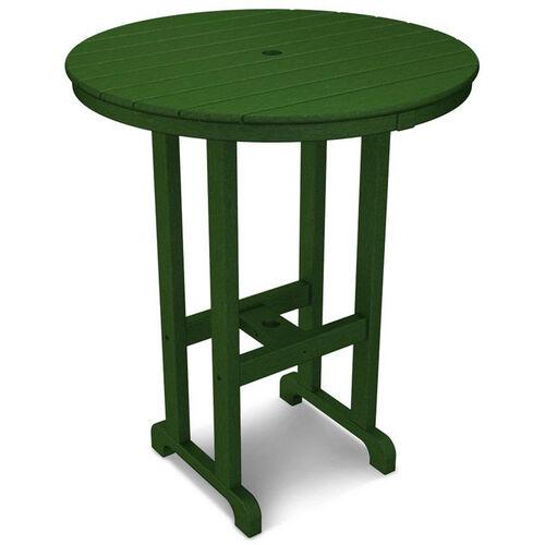 POLYWOOD® Round 36'' Bar Table - Green