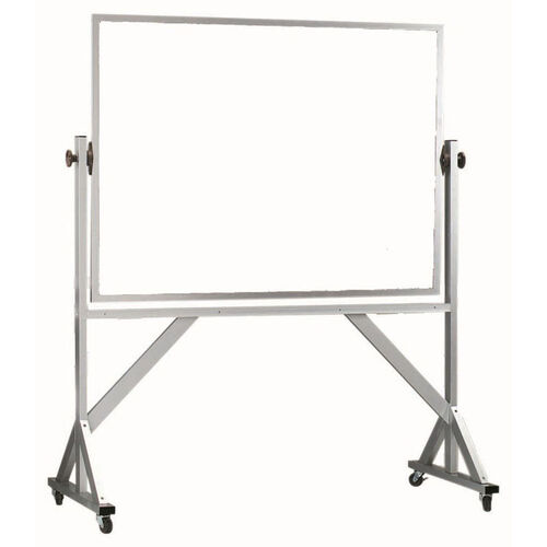 Reversible Free Standing Melamine White Marker Board with Aluminum Frame - 36''H x 48''W