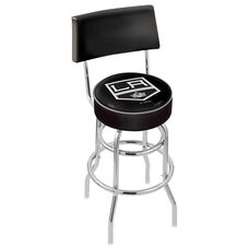 Los Angeles Kings 25'' Chrome Finish Swivel Counter Height Stool with Double Ring Base
