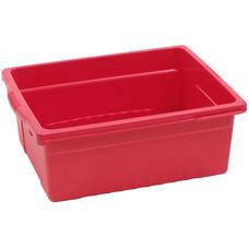 Royal Large Open Environmentally Friendly Tough Plastic Tub - Red - 15.63''W x 12.56''D x 6''H
