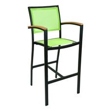 South Beach Collection Outdoor Barstool with Arms