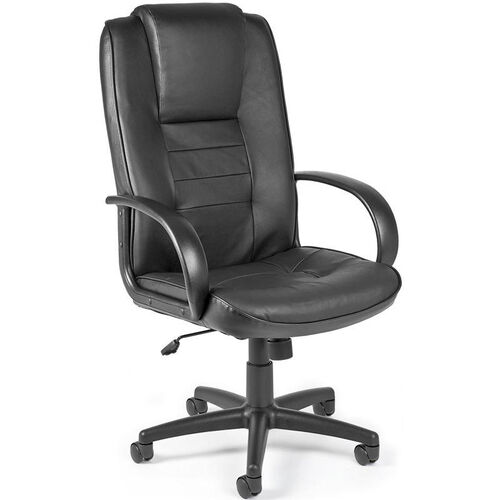 Promotional Leather High-Back Chair - Black