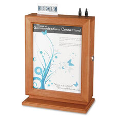 Safco Customizable Wood Suggestion Box