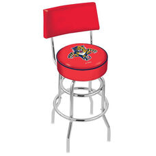Florida Panthers 25'' Chrome Finish Swivel Counter Height Stool with Double Ring Base