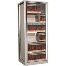 Ez2 Rotary File Shelving 6 Shelves Letter Depth - Adder Unit - Light Gray
