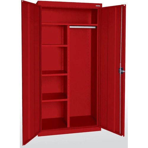 Elite Series 36'' W x 18'' D x 72'' H Combination Cabinets with Adjustable Shelves - Red