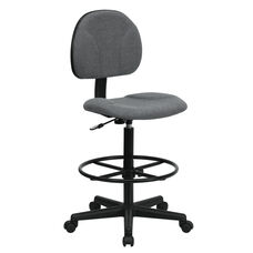 Gray Fabric Drafting Chair (Cylinders: 22.5''-27''H or 26''-30.5''H)