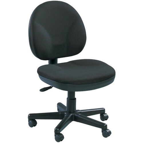 OSS 20'' W x 24'' D x 36'' H Adjustable Height Shell Mid Back Task Chair - Ebony