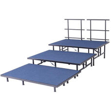 Seated Band/Choral Riser Add On Section with Built - In Coupling System - 36''W x 96''D x 24''H