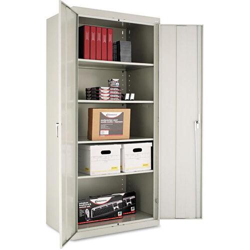 Alera® Assembled 78'' High Storage Cabinet - w/Adjustable Shelves - 36w x 24d - Light Gray