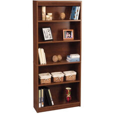 11.6''L x 29.5''W x 72''H Standard Laminate Bookcase with Adjustable Shelves - Tuscany Brown