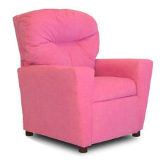 Kids Upholstered Theater Recliner with Cup Holder - Hot Pink