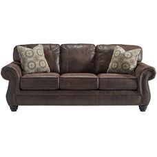 Benchcraft Breville Sofa in Espresso Faux Leather