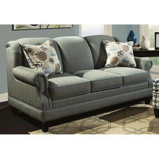 Francine Contemporary Style Polyester Blend Apartment Sofa - Milan Pool