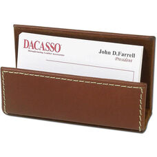 Rustic Leather Business Card Holder - Brown