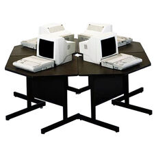 Customizable Four Cluster Computer Workstation - 78''W x 78''D x 27''H