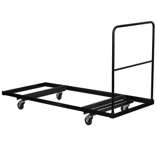 Black Folding Table Dolly for 30''W x 72''D Rectangular Folding Tables