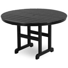 POLYWOOD® Round 48'' Dining Table - Black