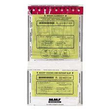 Mmf Industries Tamper Evident Twin Deposit Bags - Pack Of 100