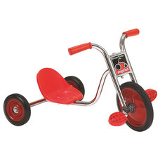 Silver Rider 10'' Pedal Pusher LT with Spokeless Solid Rubber Wheels - Red