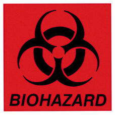 Rubbermaid Commercial Products Commercial 6'' Square Biohazard Label - 6''W x 1''D x 6''H