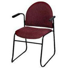 Endurance Contemporary Stack Chair with 2'' Thick Contoured Seat and Arms - Closed Back