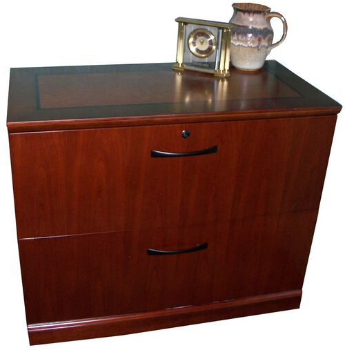 Sorrento Two Drawer Lateral File - Bourbon Cherry