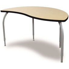 ELO Reef High Pressure Laminate Table with Adjustable Legs and 1.25'' Beveled Armor Edge Top - 54''W x 30''D x 26-31''H