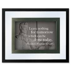 DAX Presidential Quotes Motvtnl Print Frame