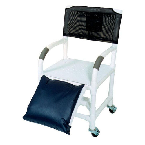 Below Knee Amputee Shower Chair with Flat stock Seat with Drain Holes and Casters- 22''W X 18''D X 40''H