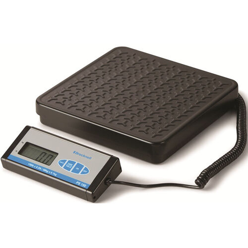 Black Portable Bench Scale with Large Push Buttons - 11.88''W X 12.38''D X 2.25''H