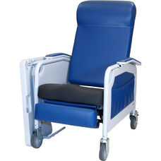 Convalescent Recliner with Saddle Seat - No Tray - 3 Position