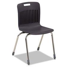 Virco® Analogy Extra-Large Ergonomic Stack Chair - Black/Chrome - 4/Carton