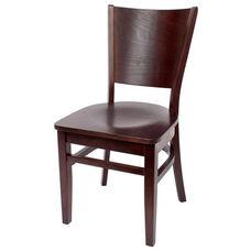Merion Classic Walnut Wood Chair - Wood Seat