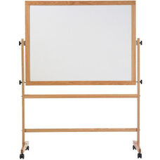 Double-Sided Pro-Rite® Markerboard with Wood Trim - 48''H x 72''W