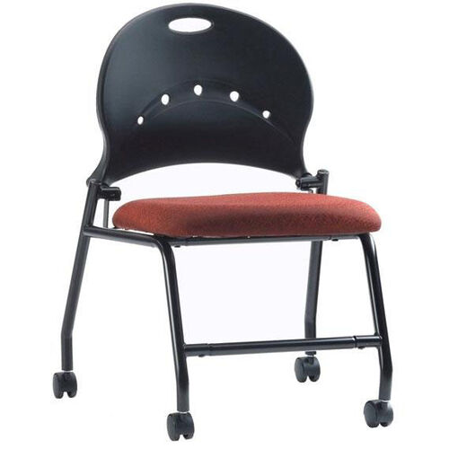 Zappa 23.5'' W x 32.5'' H Armless Mobile Nesting Chair with Upholstered Seat