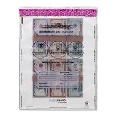 MMF FREEZFraud Tamper-Evident Deposit Bags - 12'' x 16'' - Polyethylene - White