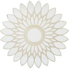 OSP Designs Silver Frame Round Mirror