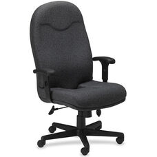 Mayline Group Ortho Comfort High-Back Executive Chair with Adjustable Arms - Gray Fabric