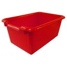 Versatile Scoop Front Plastic Storage Bins - Red - 11.5''W x 8''D x 5''H