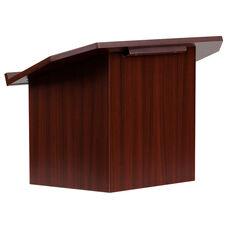 Foldable Tabletop Lectern in Mahogany