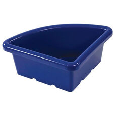 Quarter Circle Plastic Tray For Sand and Water Centers - Blue - 15''W x 15''D x 6.9''H