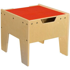LEGO™ Compatible Reversible Table with Red Top - Unassembled - 18.63